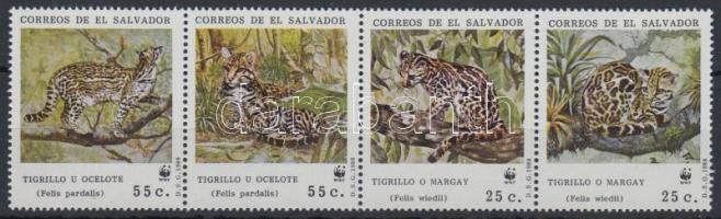 WWF kisméretű macskafélék négyescsík WWF Small felines stripe of 4