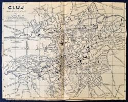 1933 Kolozsvar Terkepe Epuletjegyzekkel Map Of Cluj 39x31 Cm