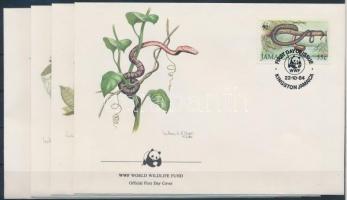 1984 WWF: Boa sor Mi 591-594 I 4 db FDC-n
