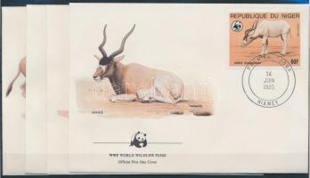 1985 WWF: Antilop sor Mi 941-944 4 db FDC-n