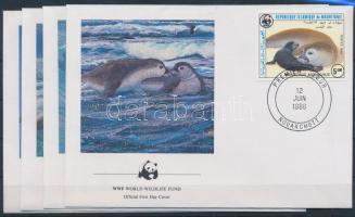 1986 WWF: Fóka sor Mi 871-874 4 db FDC-n