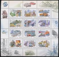 2000 Oroszország a XX. században: technikai vívmányok teljes ív Mi 863-874
