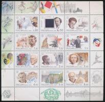 2000 XX. század, művészet és kultúra kisív Mi 849-860