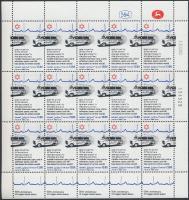 50th anniversary of Organization mini sheet + block, 50 éves a szervezet kisív + blokk