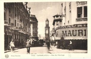 Casablanca, Rue de lHorloge / street, Bar Mauri
