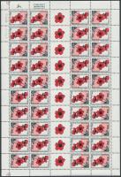 Szellőrózsa bélyegfüzet kisív, Wind flower stamp-booklet sheet