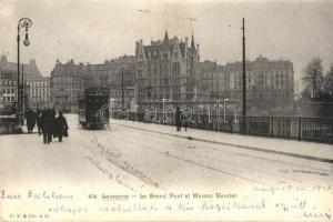 Lausanne, Le Grand Pont, Maison Mercier / bridge, tram