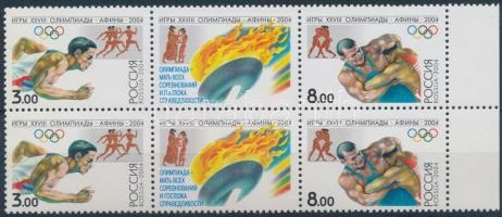 2004 Nyári Olimpia, Athén ívszéli 6-os tömb Mi 1190-1191