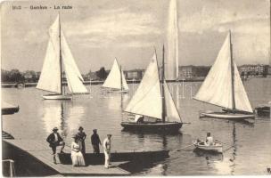 Geneva, Geneve; La rade / boat race (EK)