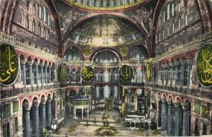 Constantinople, Interieure Snt. Sophie / mosque interior