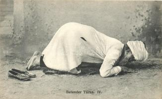 Betender Türke IV / Turkish folklore, praying man