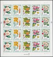 1998 Virágok és termések fóliaív Mi 2938-2942