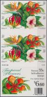 1999 Trópusi virágok fóliaív Mi 3117-3120