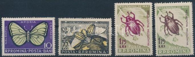 Insects set with types, Rovarok sor benne típusváltozat