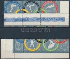 Summer Olympics, Rome stripe of 2 and 3, Nyári Olimpia, Róma sor kettes-, és hármascsíkban