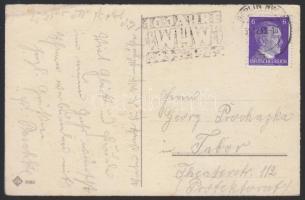 1943 Képeslap WHW propaganda bélyegzéssel