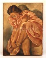 Pálvölgyi jelzéssel: Balerina. Olaj, vászon, 70×50 cm
