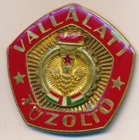 ~1970-1980. Vállalati Tűzoltó fém jelvény T:1