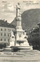 Bolzano, Bozen (Tyrol); Denkmal Walter von der Vogelweide / statue (EK)