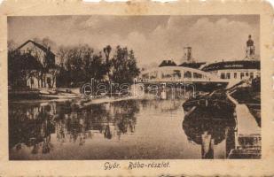 Győr, Rába-részlet, híd (fl)