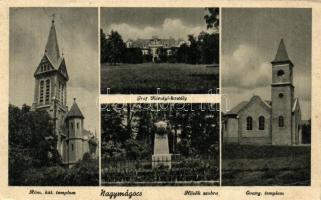 Nagymágocs, Hősök szobra, Gróf Károlyi-kastély, Római Katolikus templom, Evangélikus templom