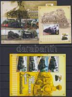 2004 Mozdony 2 klf kisív Mi 1249-1258 + blokk 103