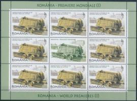 Romanian inventions mini sheet, Román találmányok kisív