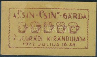 1922 CSIN-CSIN Gárda Visegrádi Kirándulása levélzáró