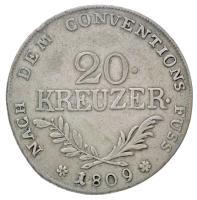 Osztrák Államok / Tirol 1809. 20kr Ag I. Miksa (6,54g) T:2- Austrian States / Tyrol 1809. 20 Kreuzer Ag Maximilian I (6,54g) C:VF Krause KM#149