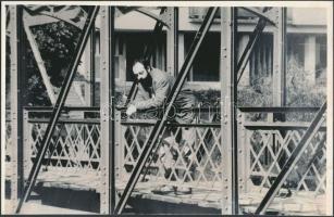 Tompa Gábor (1957-) világhírű erdélyi magyar színházi rendező, a Kolozsvári Állami Magyar Színház igazgatója és főrendezője, egyetemi oktató, színészpedagógus, költő fotója, 15x24cm