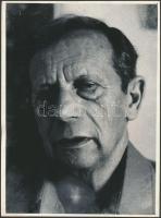 Gáll Ernő (1917-2000) szerkesztő, szociológus, filozófiai író fotója, 24x18cm