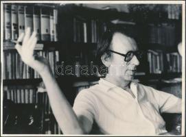 Bajor Andor (1927-1991) romániai magyar író, költő, humorista fotója, 18x24cm
