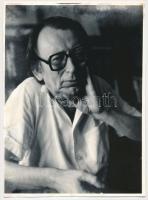 Bajor Andor (1927-1991) romániai magyar író, költő, humorista fotója, 24x18cm