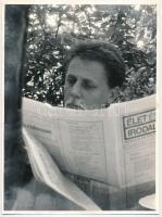 Gálfalvi György (1942-) József Attila-díjas romániai magyar író, szerkesztő fotója, 24x18cm