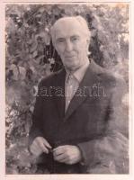 Méliusz József (1909-1995) erdélyi író, költő, műfordító, fotója, 24x18cm