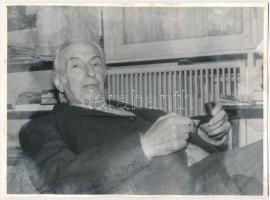 Méliusz József (1909-1995) erdélyi író, költő, műfordító, fotója, 18x24cm
