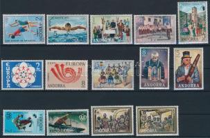 1972-1980 22 db bélyeg és 1 blokk 1972-1980 22 stamps + 1 block