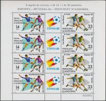 Labdarúgó világbajnokság kisív Football World Cup minisheet