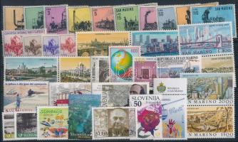 1956-2010 Railway 37 stamps, 1956-2010 Vasút motívum 37 db bélyeg, közte teljes sorok, ívszéli értékek és összefüggések