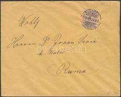 1899 2kr nyomtatványon BUDAPEST - Ruma