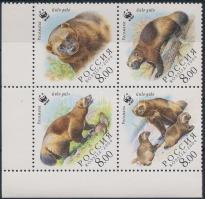 2004 WWF: Torkosborz sor ívsarki négyestömbben Mi 1198-1201