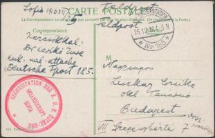 1916 Képeslap / Postcard HUGHESSTATION DER K. U. K. ÖSTERR-UNG. GESANDSCHAFT SOFIA