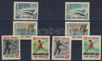 1963 Téli Olimpia fogazott és vágott sor Mi 793-796+798-801