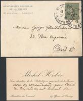 Michael Huber francia történész, statisztikus saját kézzel írt levele / Autograph written letter of Michael Huber French historian and statistican
