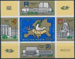 1980 Madridi értekezlet vágott blokk (6.000)