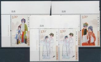 2010 Kunqu, kínai opera sor ívsarki párokban Mi 4163-4165