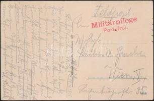 1915 Tábori posta képeslap Militärpflege Portofrei