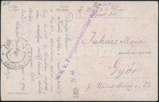 1917 Tábori posta képeslap K.u.k. Feldjägerbataillon Nr.11 + FP 361 a