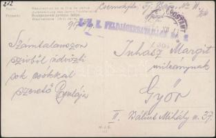 1917 Tábori posta képeslap K.u.k. FELDJÄGERBATAILLON No.11. + FP 361 a