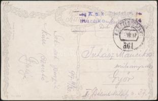 "Field postcard ""K.u.k. Division Sturmkompanie Nr.14."" + ""FP 361"", Tábori posta képeslap ""K.u.k. Division Sturmkompanie Nr.14."" + ""FP 361"""